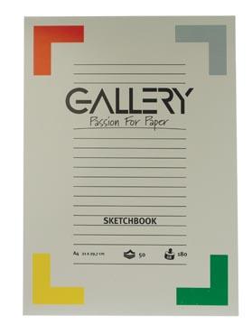 Gallery schetsblok, ft 21 x 29,7 cm (A4), 180 g/m², blok van 50 vel