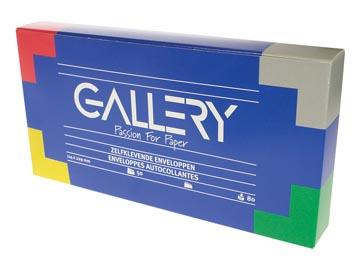Gallery enveloppen ft 114 x 229 mm, stripsluiting, doos van 50 stuks