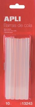 Apli transparante lijmpatronen 7,5 mm, blister met 10 stuks