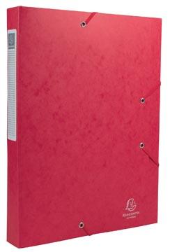 Exacompta Elastobox Cartobox rug van 4 cm, rood, kwaliteit 7/10e