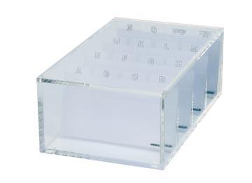 Maul acryl box voor visitekaartjes, ft 11,4 x 19 x 7 cm