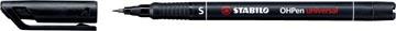 STABILO OHPen universal, OHP-marker, permanent, superfijn 0,4 mm, zwart