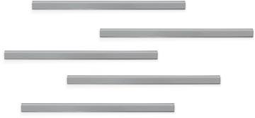 Durable Durafix zelfklevende magneetstrook, 297 mm, pak van 5 stuks, zilver