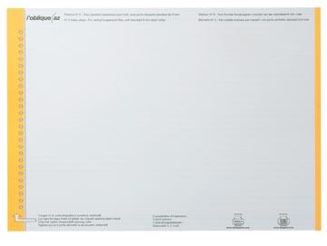 Elba etiketten voor hangmappen voor laden geel, 1 vel met 27 etiketten